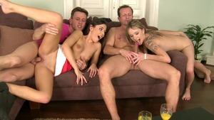 Euro Sex Parties - Blonde hair Iwia group sex