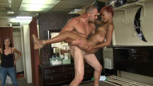 WeLiveTogether: Bald brunette caucasian Eufrat Mai group sex