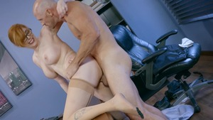 Big Tits at Work - American Lauren Phillips ass fucking