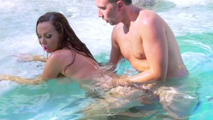 BigWetButts: Brown hair Nikki Benz doggy fucking sex scene