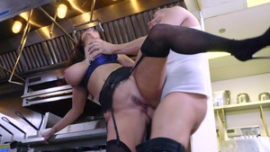 Big Tits at Work: Brown hair Ava Addams spanking in stockings