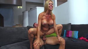 MILFs Like It Big: Brown hair Alexis Fawx spanking