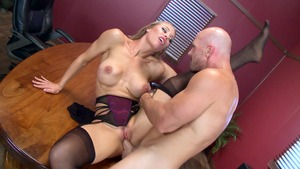 Big Tits at Work: Big tits Nicole Aniston toys action porn