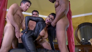 ZZ Series: Romi Rain & Stallion rough anal fucked outdoors