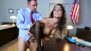 Big Tits at Work: Keiran Lee with piercing MILF Jessica Jaymes