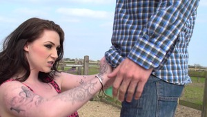 BabyGotBoobs: Harmony Reigns starring Danny D reverse cowgirl