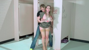 Big Tits at School: Fantasy handjob escorted by Sunny Lane