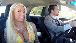 RealWifeStories: Lolly Ink and Johnny Sins in a car