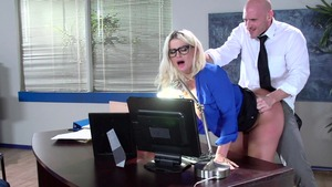 Big Tits at Work: Julie Cash blowjob scene