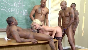 Big Tits at School: Alena Croft is a very slim blonde