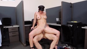 Big Tits in Uniform - Jayden Jaymes fantasy masturbation scene