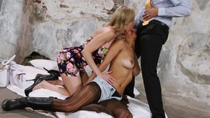 RealWifeStories - Brandi Love in high heels spanking in HD