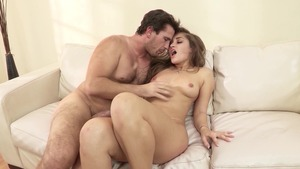 ShesGonnaSquirt.com: Brown hair Dani Daniels doggy fucks