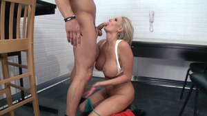 Big Tits in Uniform: Caucasian Zoey Holiday missionary fucking