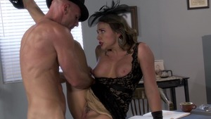 PornstarsLikeItBig: Chanel Preston & Johnny Sins swallow