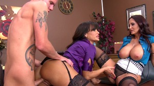 CFNM: CFNM plowing hard together with Lisa Ann