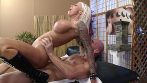 Dirty Masseur - Lolly Ink in sexy thongs among Johnny Sins