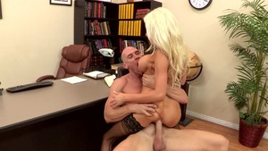 Big Tits at School: Marilyn Michelle reverse cowgirl