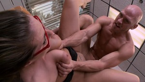 Big Tits at Work: Muscled Paige Turnah ballet scene