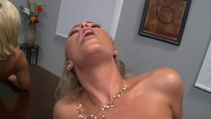Big Tits at Work: Lexi Swallow in stockings cowgirl sex HD