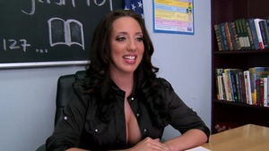 Big Tits at School - Kelly Divine is so brown hair brunette
