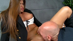 Big Tits in Uniform: Shaved Madelyn Marie ballet