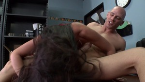 Big Tits at Work: Richelle Ryan is trimmed pussy blonde hair