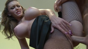 Big Tits at Work - Piercing Jenna Presley reverse cowgirl