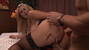 Big Tits at Work: Abbey Brooks and Johnny Sins doggy style