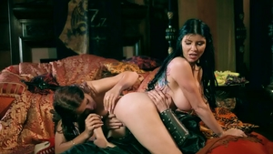 ZZ Series: Danny D together with Romi Rain FFM outdoors