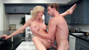 Mommy Got Boobs: Inked Brandi Love tittyfuck fingering