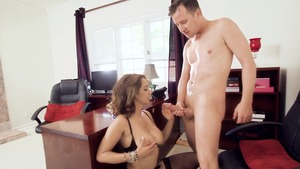Big Tits at Work: Isis Love sucking cock XXX video