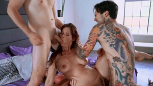 Brazzers Exxtra: Sydney Cole in skirt gagging