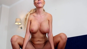 NFBusty - Blonde babe Florane Russell blowjobs