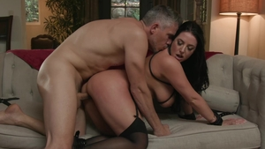 TheTalesFromTheEdge: Brunette Angela White throat fucking