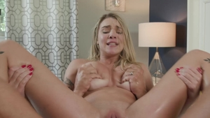 FamilyXXX.com - Big tits tight stepmom Gabbie Carter facial