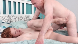Old-n-Young.com: Hairy & very hot MILF accident throat fuck