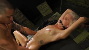 Sexual Disgrace: Super sexy girl Halle Von lusts spit