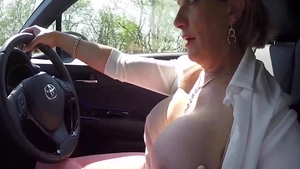 LadySonia - Busty housewife gets plowed outdoors