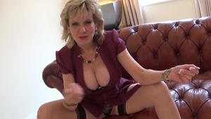 LadySonia: Bukkake at the party together with big boobs mature